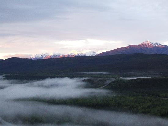 View from the Grande Denali Lodge early one morning
