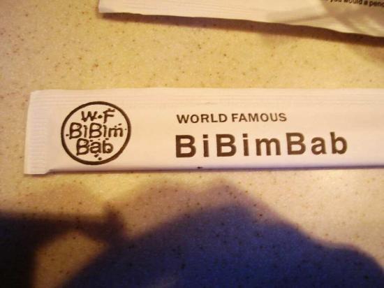 BI BIM BAP: Chopsticks to prove we were there