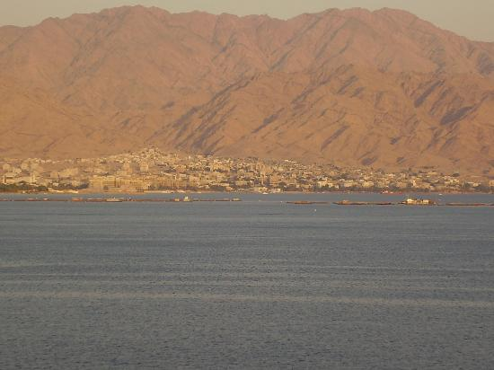 U Suites Eilat: View from balcony at dusk