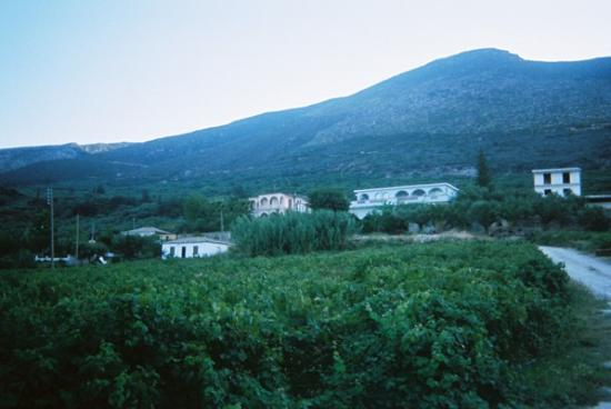 Alykes, Greece: mountains behind hotel