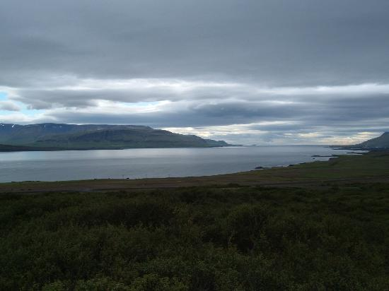 Hotel Glymur: View from hot tub.