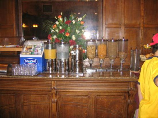 Brussels Welcome Hotel: Breakfast counter