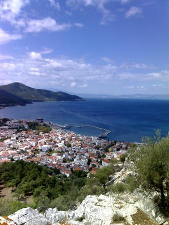 Thassos Town (Limenas), Hellas: View from the mountain