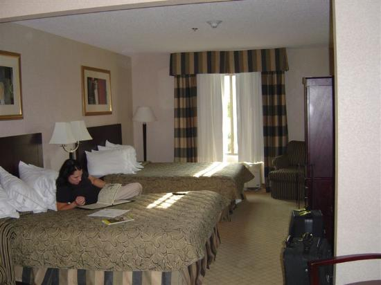 Holiday Inn Express Cooperstown: Bedroom Portion of Junior Suite