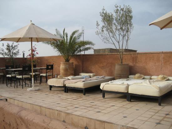 Casa Lalla: rooftop,  more relaxing at night than is portrayed in this picture