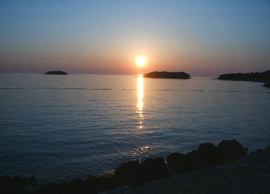 Vrsar, Croatia: La plage 18h30