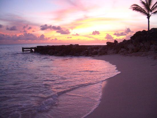 St Lawrence Gap, Barbados: the beach at sunset