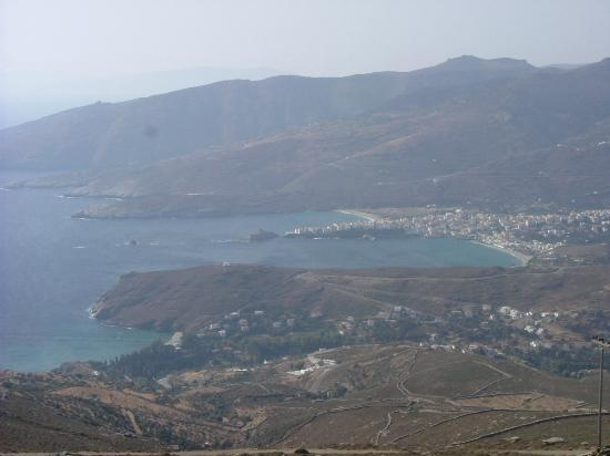 Andros Town seen from the hills