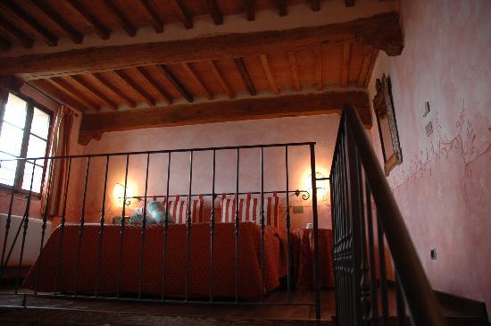 Villa Curina: The loft-style bedroom