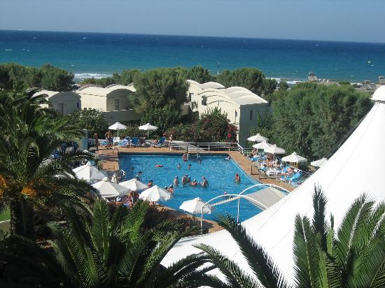 Agapi Beach Hotel: View from Seaside Room