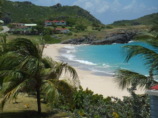 Anse des Flamands, St. Barthelemy: Looking west from our balcony