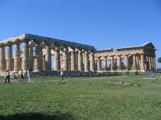 The Temple of Hera and the Temple of Nettuno/Poseidone in Paestum, province of Salerno