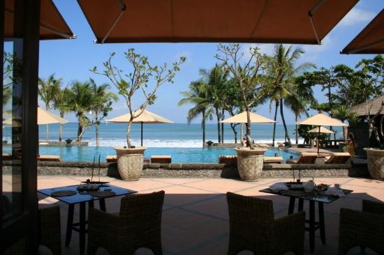 The Legian Bali: view from restaurant