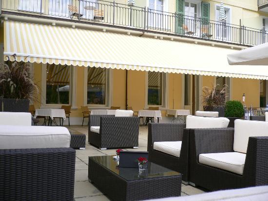 Lenkerhof gourmet spa resort : lounge terrasse
