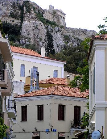 Pláka : Plaka view towards Acropolis