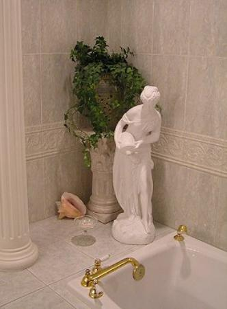 An English Rose Garden: Part of the ensuite bathroom