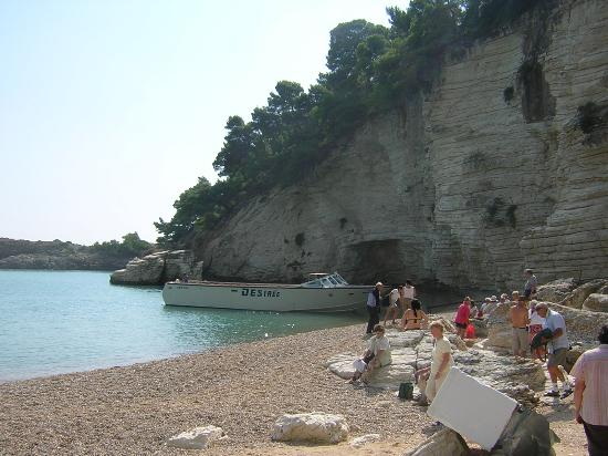 Le Ginestre Hotel: Beach BBQ - Boat in background.