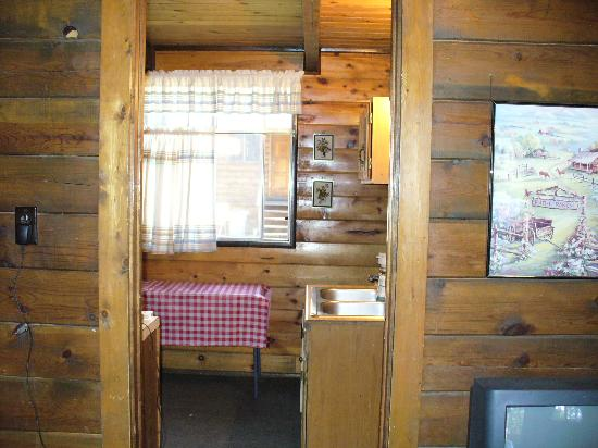 Forest Lakes Touring Center and Cabins: From Livingroom to Kitchen