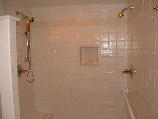 All Seasons River Inn : Double headed shower