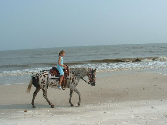 Cape San Blas: Riding on the beach