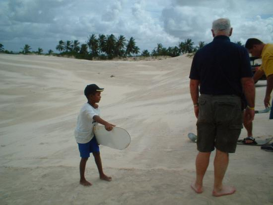 Iberostar Praia do Forte: Sand boarding - on sand dune safari trip
