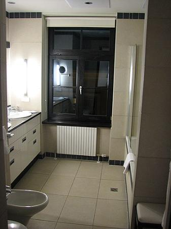 Hotel Bergs studio suite bathroom