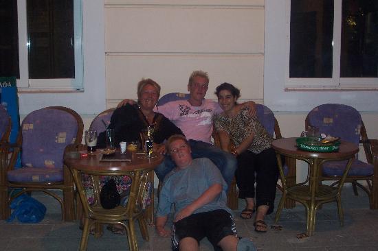 جولدن دايز هوتل: outside Mike's with Maria