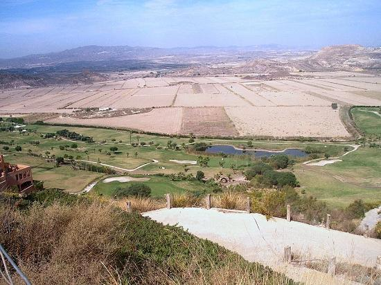 Mojacar, Spain: view across holes 4-12