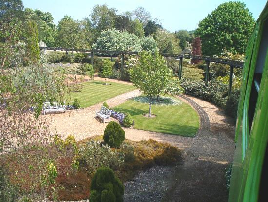 View of gardens from monorail picture of beaulieu national motor