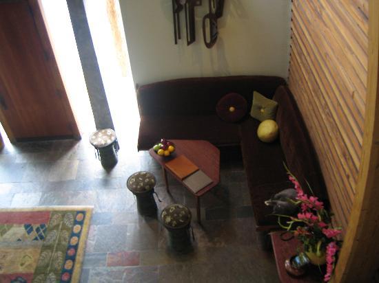 Post Ranch Inn: lobby at reception...cozy