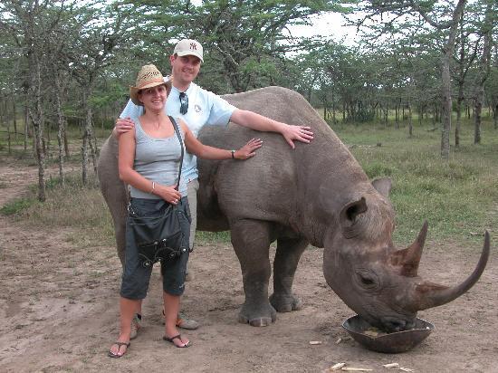 Fairmont Mount Kenya Safari Club: Morani the rhino at Sweetwaters