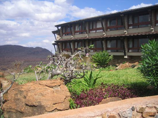 Voi Safari Lodge: rear view of hotel