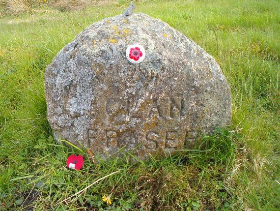 Culloden Moor, UK: Memorial stone to Clan Frazer