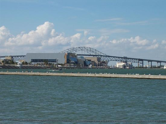 Corpus Christi, Teksas: Harbor Bridge and American Bank Center