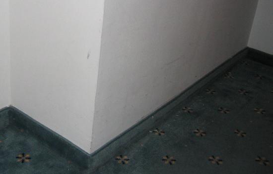 Golden Park Hotel: Paredes/esquinas deterioradas y sucias
