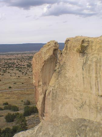 "Ramah, NM: A ""woodpecker"" on the side of the mesa - one of the awesome formations."