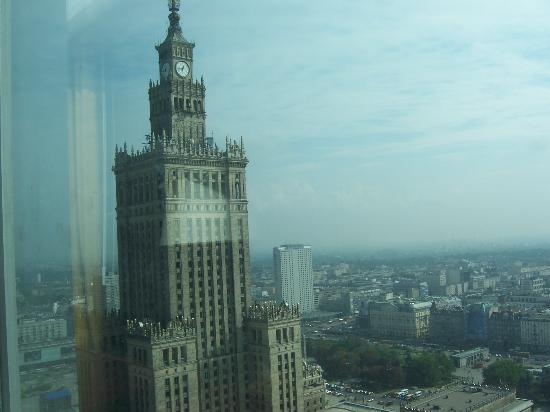 InterContinental Hotel Warsaw: View of the Palace of Culture from my room