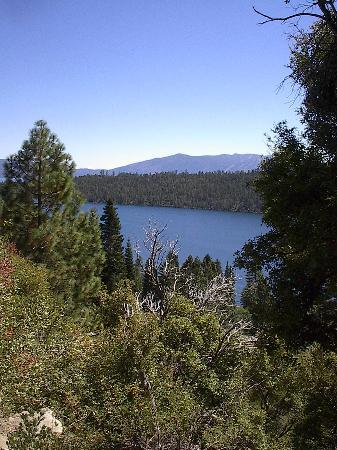 Vikingsholm: View of Emerald Bay - on the 1 mile walk down to the Castle