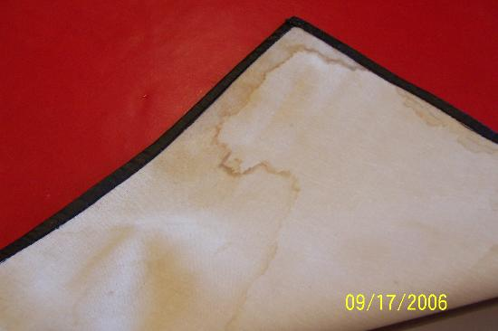 Rodeway Inn: An 'undamaged' Table Cover, front w/back flapped up