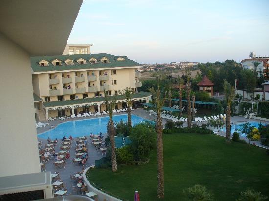 Hotel Monachus & spa: view from my balcony