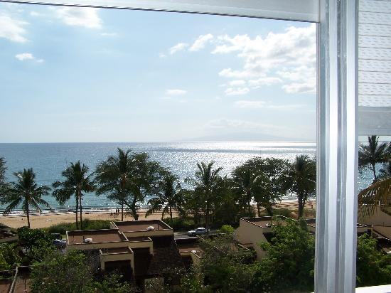 Kamaole Beach Royale Resort, ( #608): view from lanai