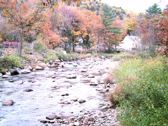 Lodge at Jackson Village: River behind the Inn.