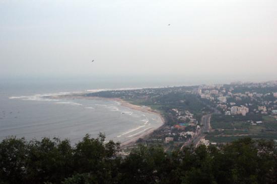 WelcomHotel Grand Bay: View of Vizag beach from Kailasagiri