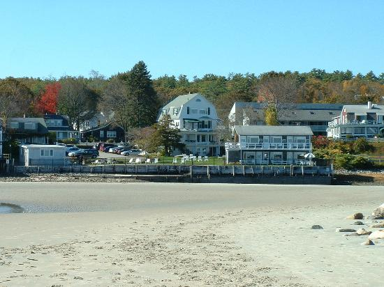 Marginal Way House from Ogunquit Beach