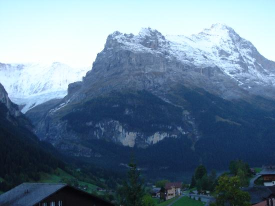 Hotel Lauberhorn: view from our room