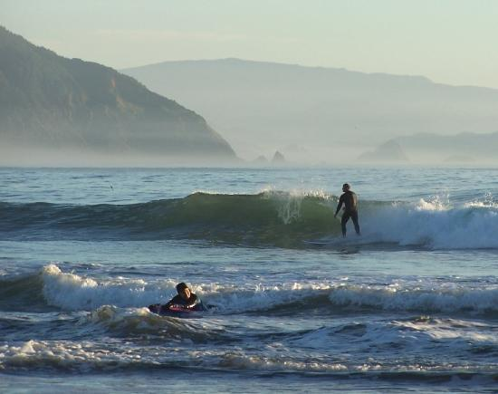 Battle Rock Beach Surfer Picture Of Port Orford Oregon
