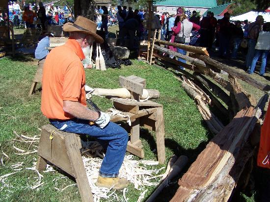 Clinton, TN: Carvin' Wood