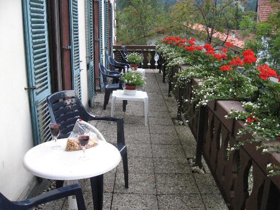 Hotel Turmwirt : Our balcony