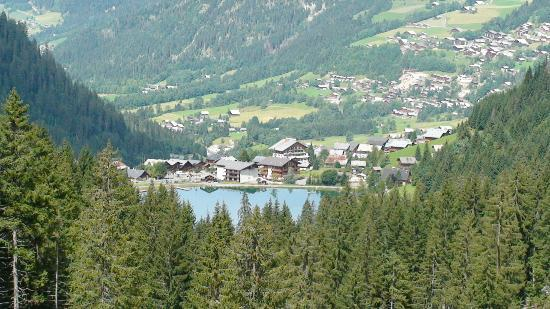 Looking down on the village of Chatel