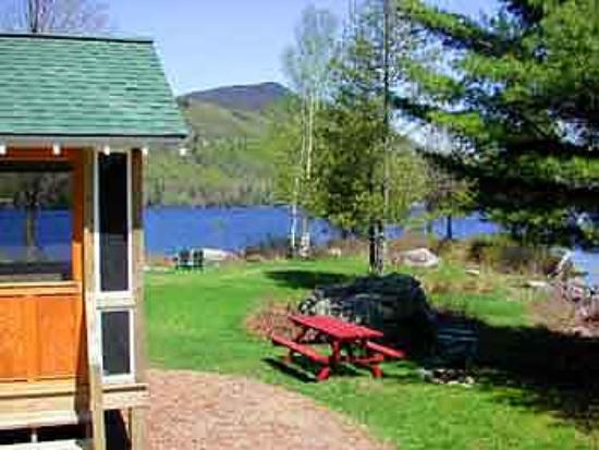 Prospect Point Cottages - Blue Mountain Lake: Great views right from the cabins!